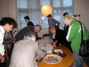 Inschrijving deelnemers Douzelage Duurzaamheidsconferentie Meerssen 22-24 januari 2015 (Irene Readts)